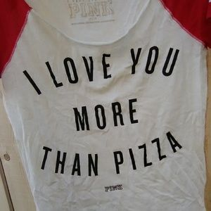 Victoria's Secret Pink love more than pizza top